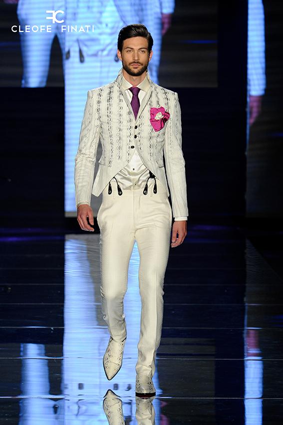 Total white menswear tendenza uomo dell'estate Cleofe Finati by Archetipo 3