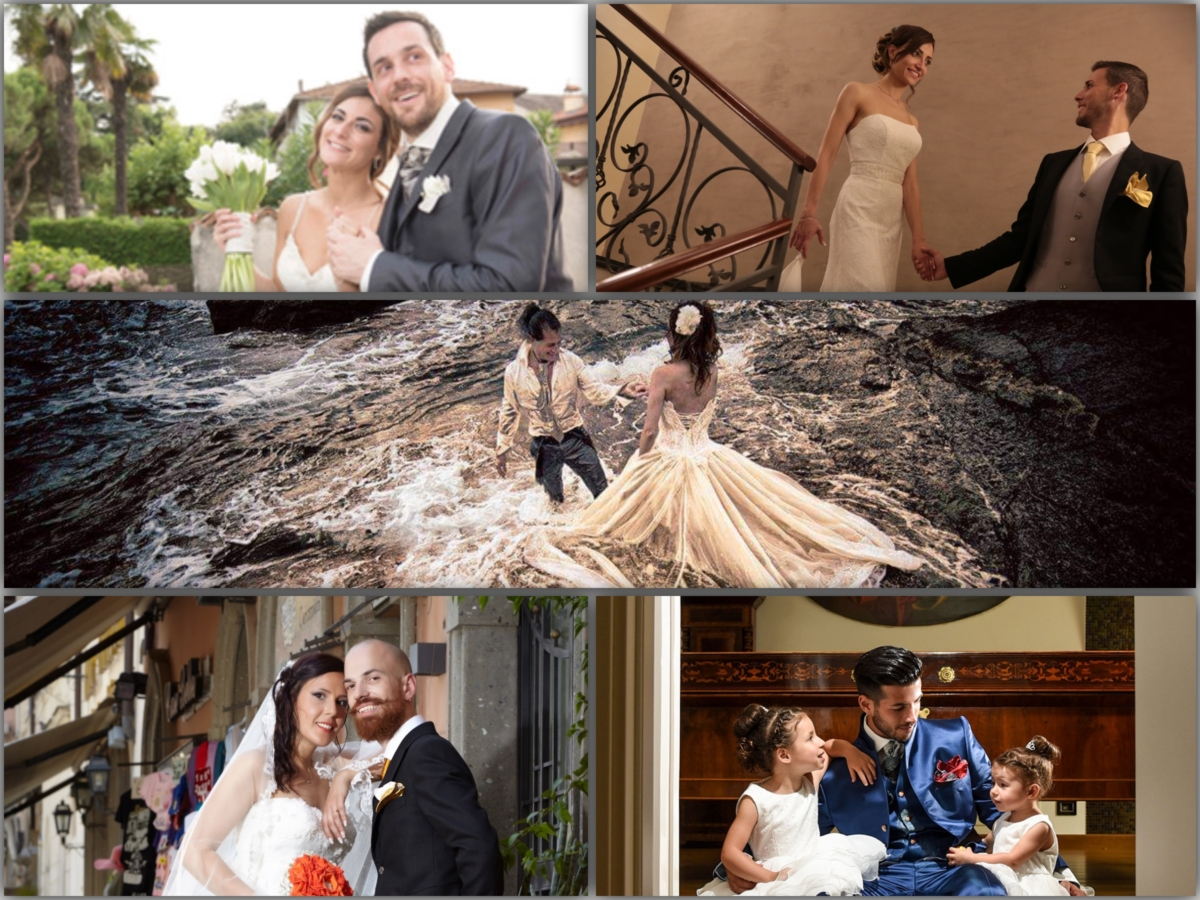 """""""Cleofe Finati brides&grooms"""" contest:  the 5 finalist couples"""