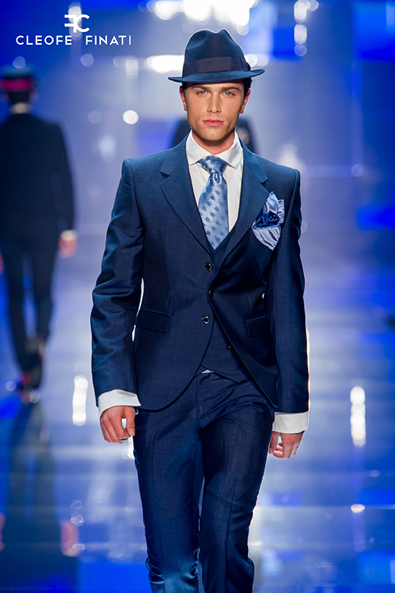 "Giuseppe Rossi wears the Cleofe Finati ""Deep Blue"" suit"