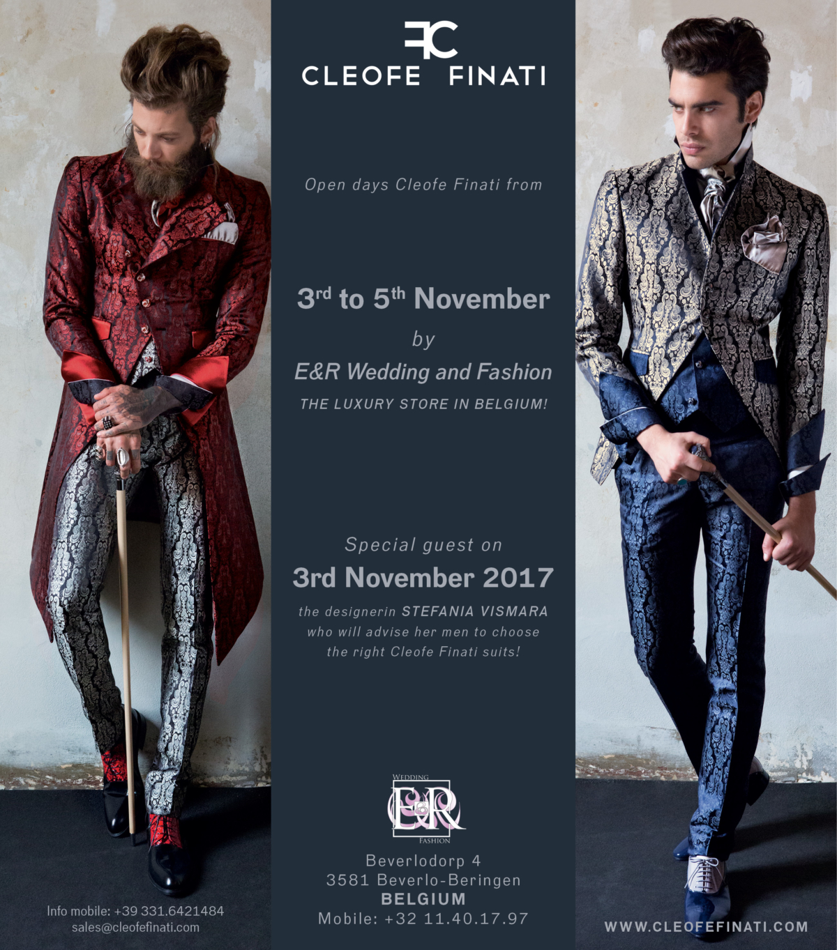 Workshop & Trunkshow by Cleofe Finati at E&R in Belgium