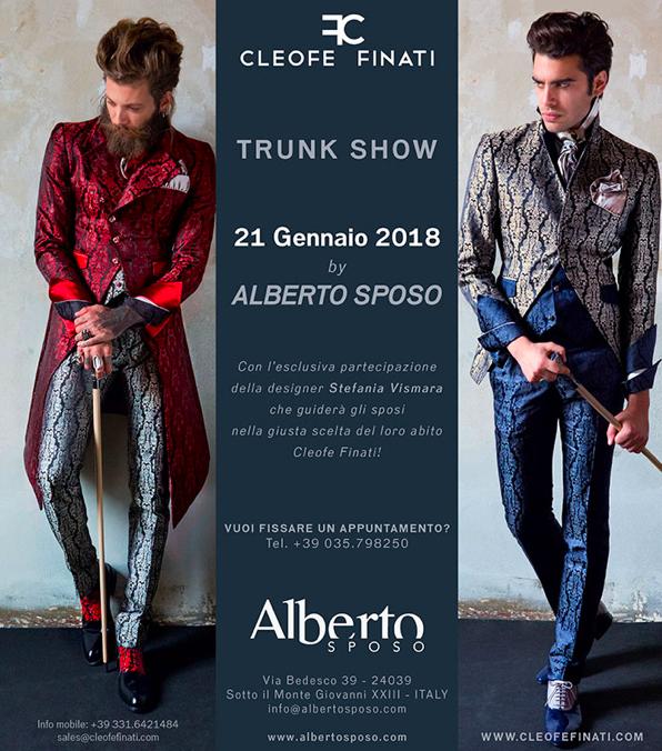 Trunk show Cleofe Finati presso Alberto Sposo il 21 Gennaio