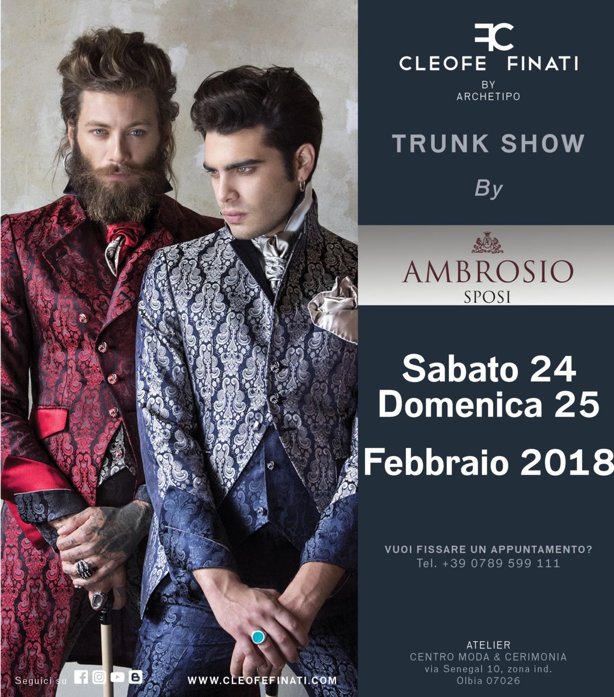 Trunk show Cleofe finati presso Ambrosio