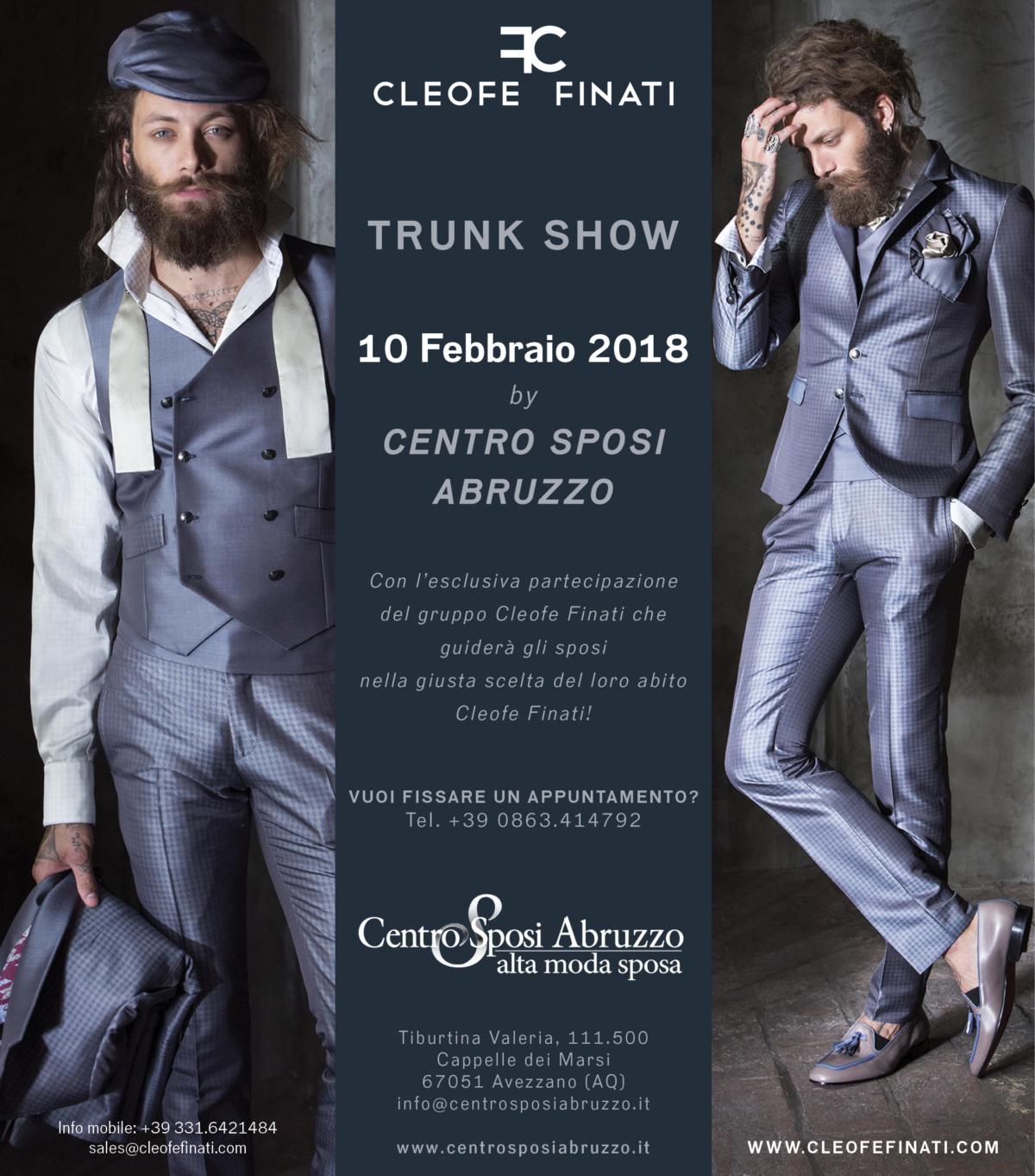 Trunk Show Cleofe Finati presso Centro Sposi Abruzzo