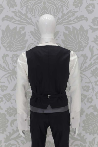 Waistcoat vest blue grey wedding suit classic blue black 100% Made in Italy by Cleofe Finati
