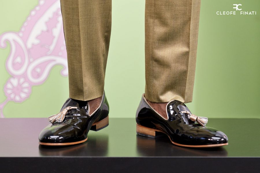 Scarpe uomo stringate grigio nero abito da sposo fashion nero made in Italy 100% by Cleofe Finati