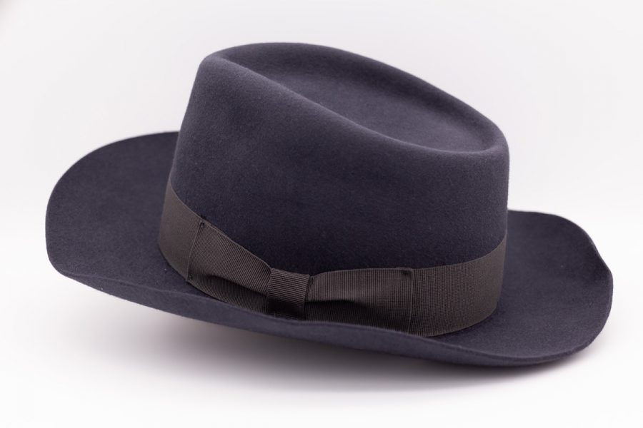 Demi top hat glamour men's suit blue gold 100% made in Italy by Cleofe Finati