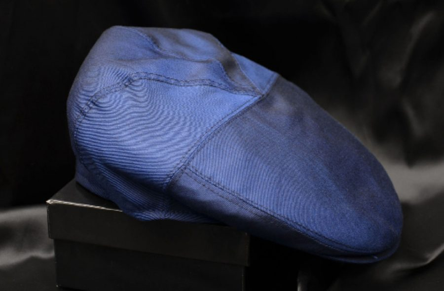 Cappello coppola blu intenso abito da uomo glamour blu bordeaux made in Italy 100% by Cleofe Finati