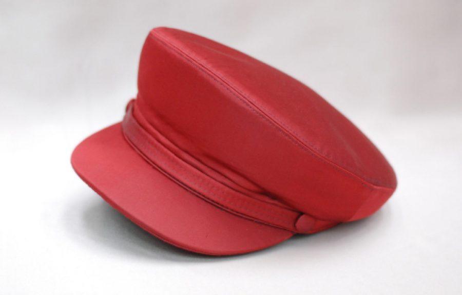 Cappello litis rosso abito da uomo glamour rosso made in Italy 100% by Cleofe Finati