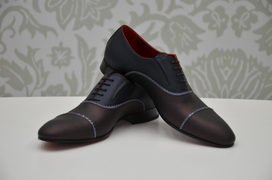 Scarpe stringate blu bordeaux abito da uomo glamour rosa salvia made in Italy 100% by Cleofe Finati