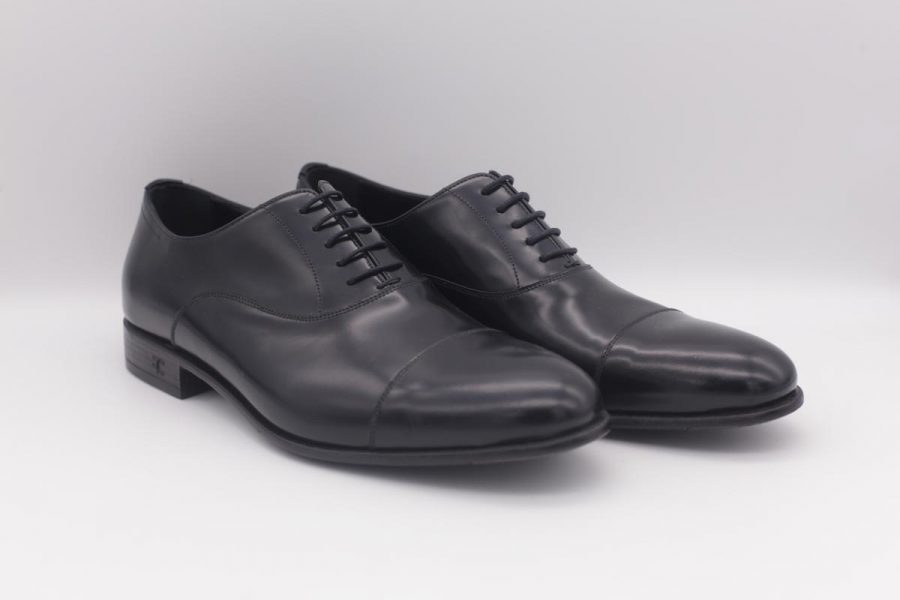 Blumarine and black lace-up shoes for men classic wedding suit dusty serenity blue 100% made in Italy by Cleofe Finati