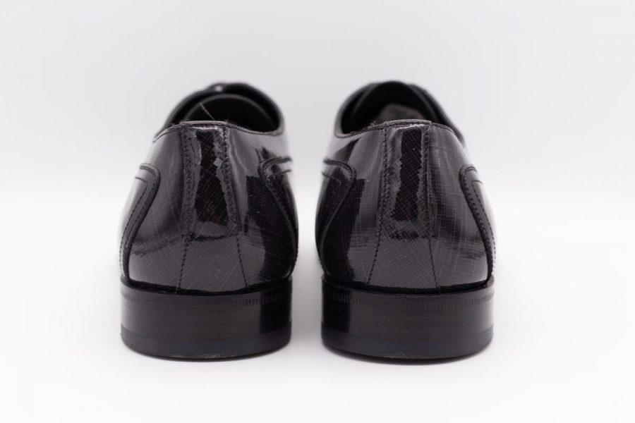 Scarpe uomo stringate grigio nero abito da sposo marsina nero made in Italy 100% by Cleofe Finati