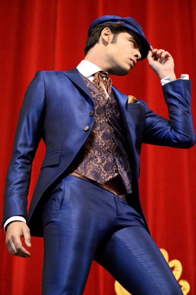 Deep blue fashion wedding suit 100% made in Italy by Cleofe Finati