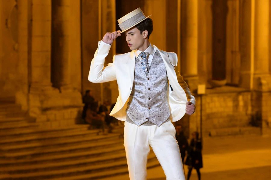 Fashion cream wedding suit 100% made in Italy by Cleofe Finati