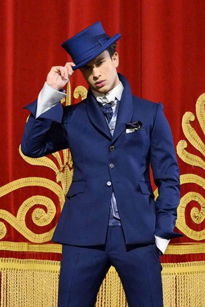 Abito da sposo fashion blu lampo made in Italy 100% by Cleofe Finati