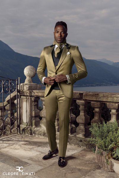 Abito da sposo fashion nero made in Italy 100% by Cleofe Finati