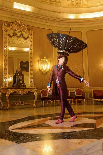 Glamorous luxury men's suit limited edition burgundy 100% made in Italy by Cleofe Finati