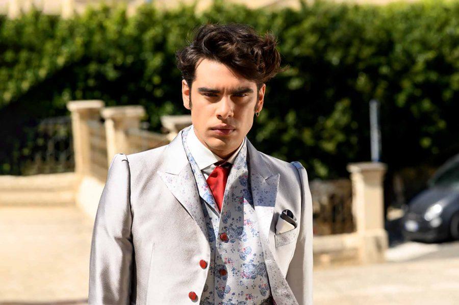 Abito da uomo lusso glamour grigio ghiaccio made in Italy 100% by Cleofe Finati