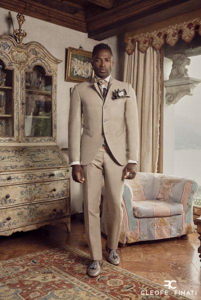 Abito da sposo fashion marrone made in Italy 100% by Cleofe Finati