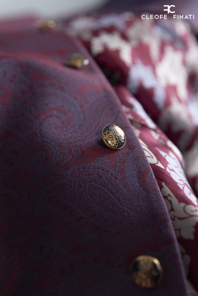 Luxury man glamour blue bordeaux 100% made in Italy by Cleofe Finati