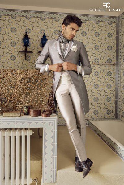 Abito da uomo glamour lusso rosa salvia made in Italy 100% by Cleofe Finati