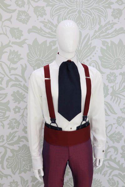 Bretelle bordeaux abito da uomo glamour bordeaux blu made in Italy 100% by Cleofe Finati