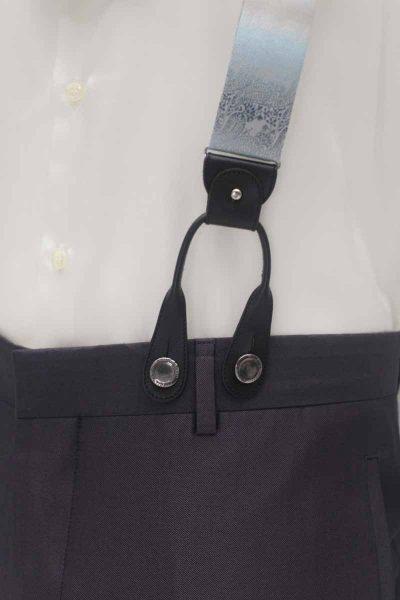 Bretelle grigio azzurro abito da sposo fashion grigio nuvola made in Italy 100% by Cleofe Finati