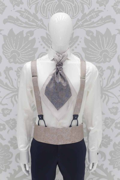 Fashion navy blue wedding suit 100% made in Italy by Cleofe Finati
