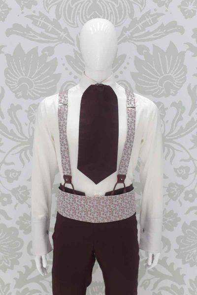 Bretelle silver abito da sposo fashion bordeaux made in Italy 100% by Cleofe Finati