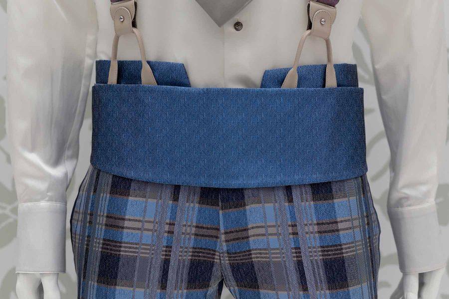 Abito da uomo glamour lusso azzurro blu made in Italy 100% by Cleofe Finati