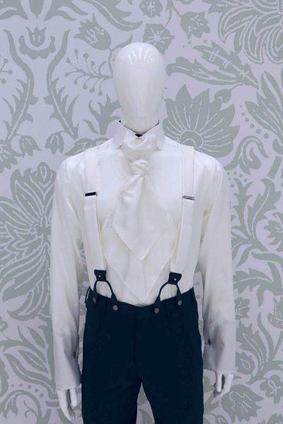 Bretelle bianco abito da sposo fashion verde blu made in Italy 100% by Cleofe Finati