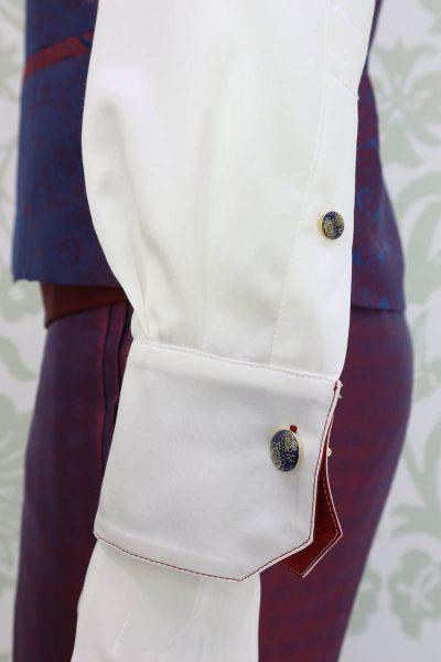 Camicia panna abito da uomo glamour bordeaux blu made in Italy 100% by Cleofe Finati