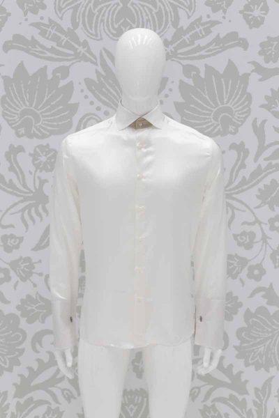 Camicia panna abito da sposo marsina nero made in Italy 100% by Cleofe Finati