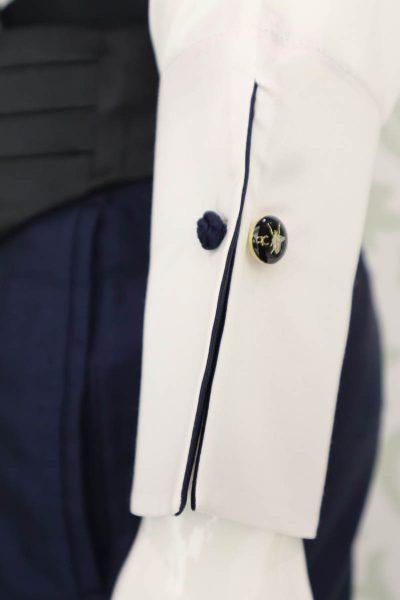 Camicia panna abito da uomo glamour blu e nero made in Italy 100% by Cleofe Finati