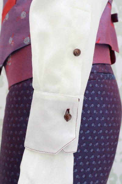 Camicia panna abito da uomo glamour blu bordeaux made in Italy 100% by Cleofe Finati