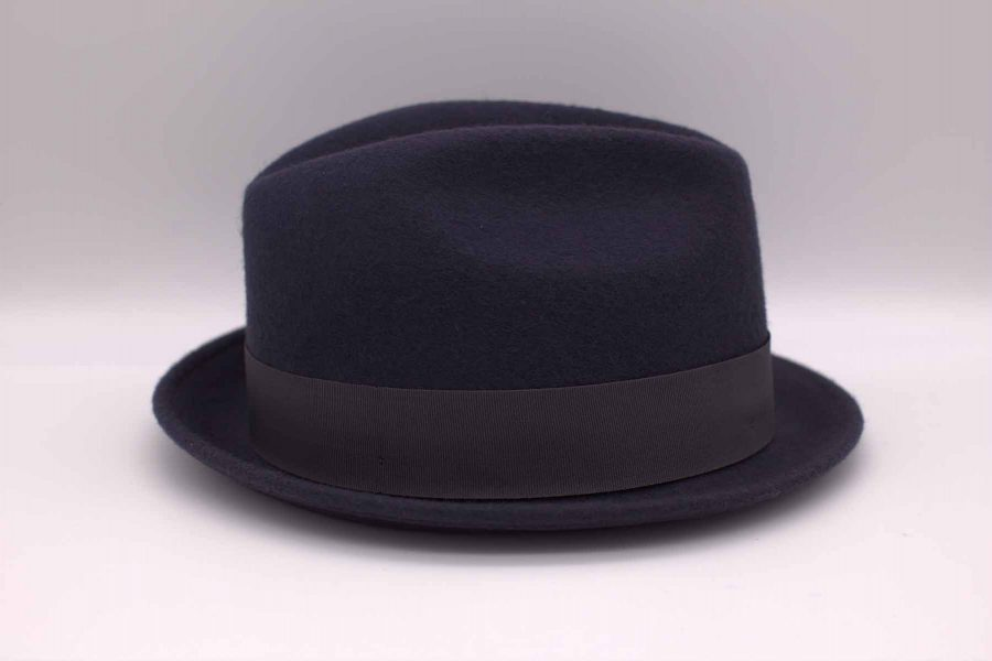 Men's blues hat classic midnight blue wedding suit 100% made in Italy   by Cleofe Finati