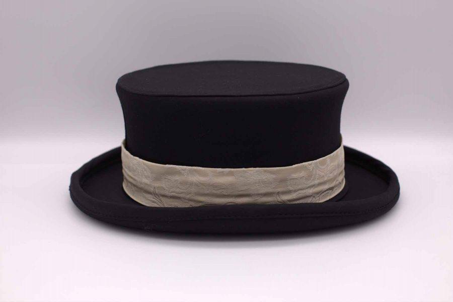 Cappello uomo cilindro demi abito da sposo marsina nero made in Italy 100% by Cleofe Finati