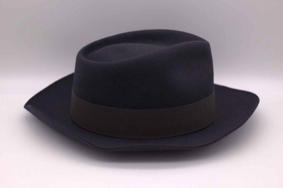 Cappello bogart abito da uomo glamour blu cobalto made in Italy 100% by Cleofe Finati