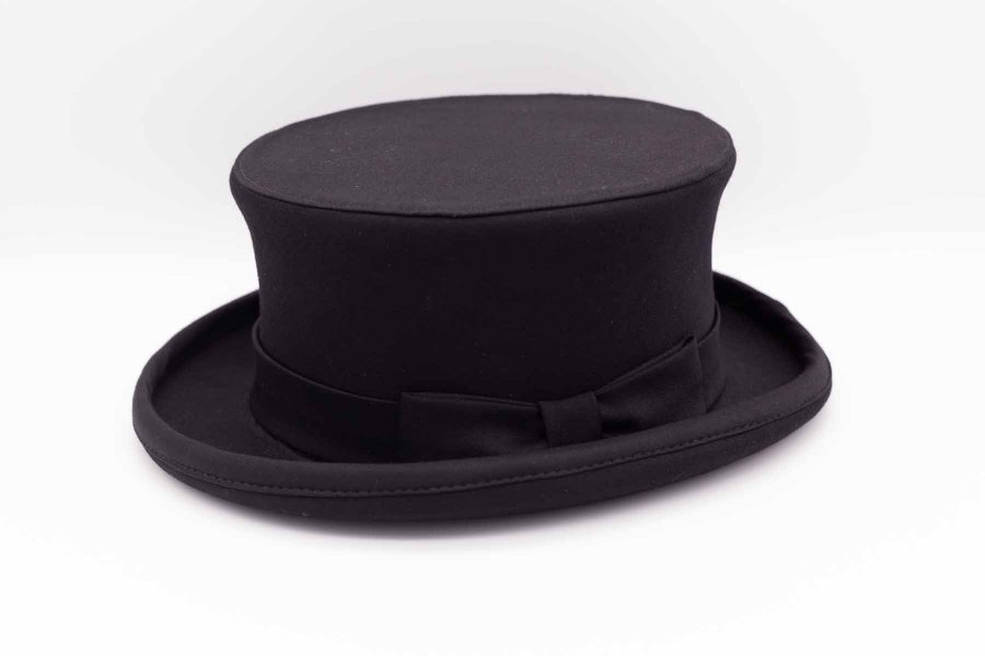 Man demi top hat classic wedding suit tail coat line in black brocade 100% made in Italy by Cleofe Finati
