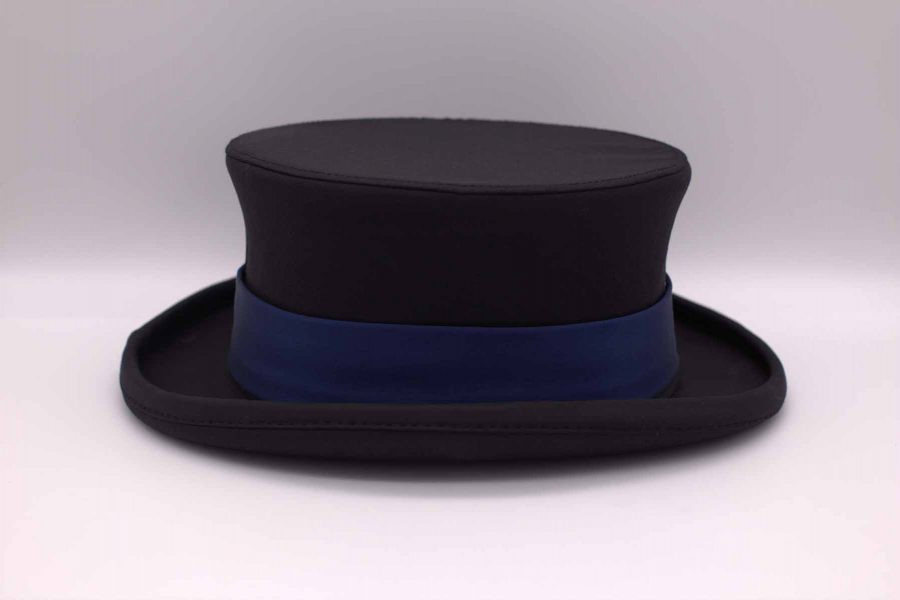 Man demi top hat fashion wedding suit lightning blue 100% made in Italy by Cleofe Finati