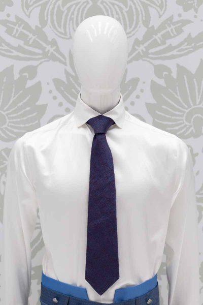 Cravatta blu metallo bordeaux abito da sposo classico azzurro cielo made in Italy 100% by Cleofe Finati