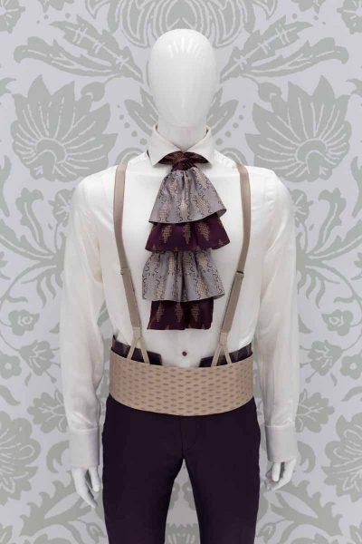 Cintura fascia in tessuto oro abito da uomo glamour lusso blu rosso made in Italy 100% by Cleofe Finati