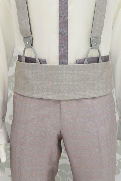 Cintura fascia in tessuto avorio salvia abito da uomo glamour rosa e salvia made in Italy 100% by Cleofe Finati