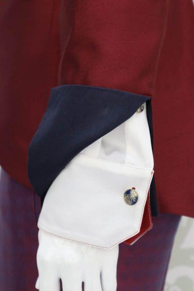 Giacca abito da uomo glamour lusso bordeaux blu made in Italy 100% by Cleofe Finati