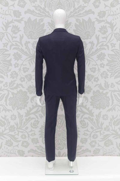 Classic navy blue wedding suit jacket 100% made in Italy by Cleofe Finati