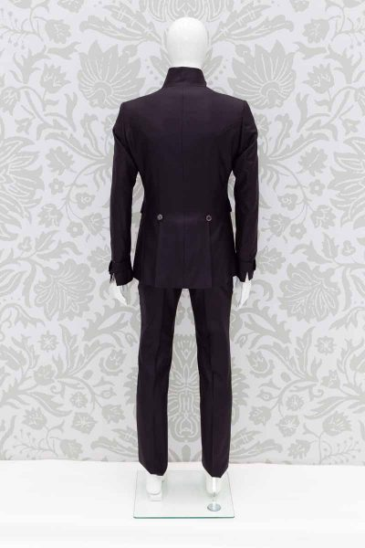 Brown fashion wedding suit 100% made in Italy by Cleofe Finati