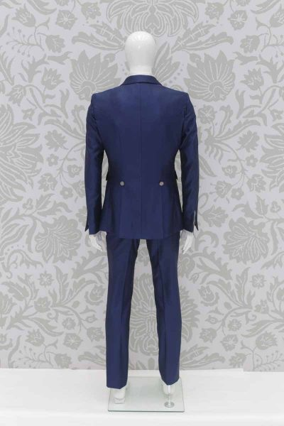 Deep blue fashion wedding suit jacket 100% made in Italy by Cleofe Finati