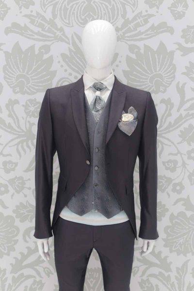 Giacca abito da sposo fashion grigio nuvola made in Italy 100% by Cleofe Finati