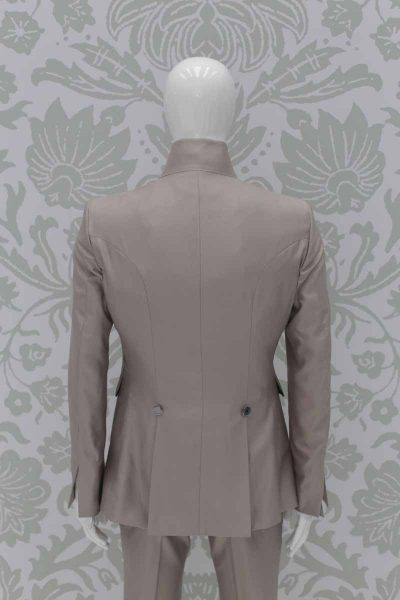 Fashion havana wedding suit jacket 100% made in Italy by Cleofe Finati