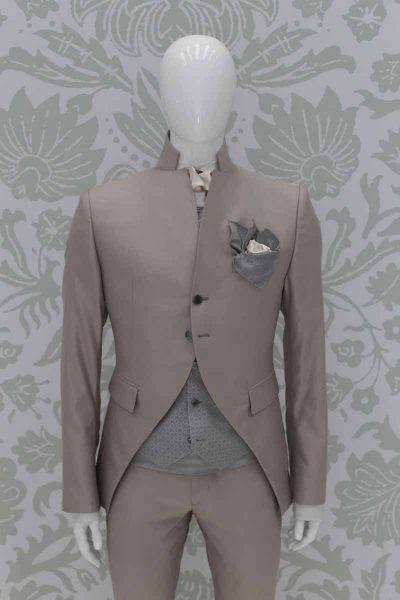 Fashion havana wedding suit 100% made in Italy by Cleofe Finati