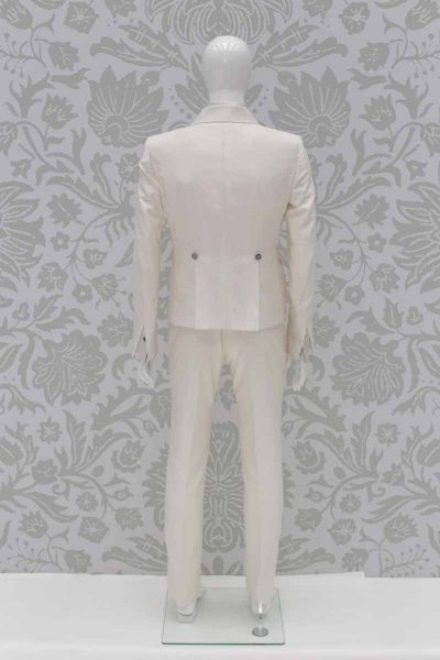 Fashion cream wedding suit jacket 100% made in Italy by Cleofe Finati